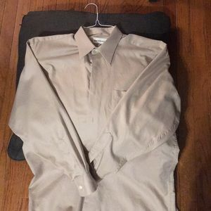 Pronto-Uomo Dress Shirt Tan
